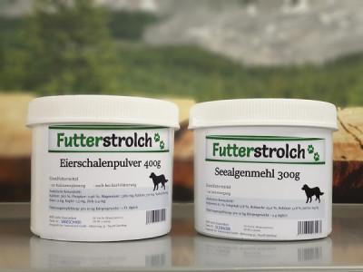 Eierschalenpulver und Seealgenmehl - Barf Zusatz - Eierschalenpulver und Seealgenmehl - Barf Zusatz