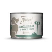 Mjamjam Dog vorzügliches Kalb an gedämpfter Zucchini