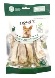 Dokas Kaninchenohren mit Fell kurz, getrocknet 100 g