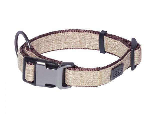 Nobby Halsband Linen Deluxe braun