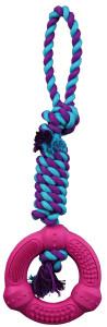 Trixie Dog Spielzeug Denta Fun Ring am Tau