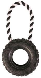 Trixie Spielzeug Reifen am Tau