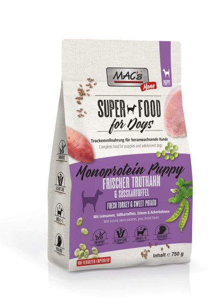 Macs Dog Superfood Mono Puppy Truthahn