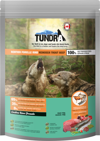 Tundra Rentier, Forelle & Rind