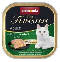 Animonda vom Feinsten Schlemmerkern mit Rind + Lachsfilet + Spinat 100g