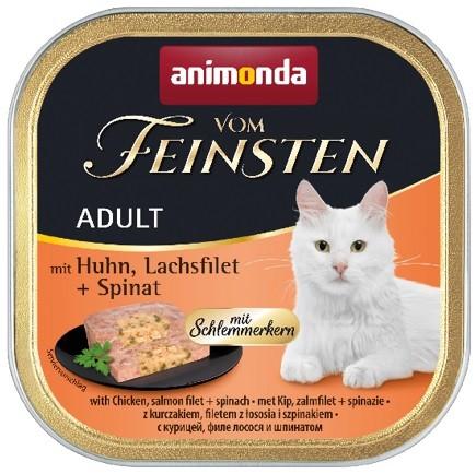 Animonda vom Feinsten Schlemmerkern Huhn + Lachsfilet + Spinat 100g