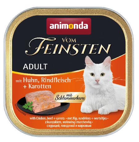 Animonda vom Feinsten Schlemmerkern Huhn + Rindfleisch + Karotten 100g