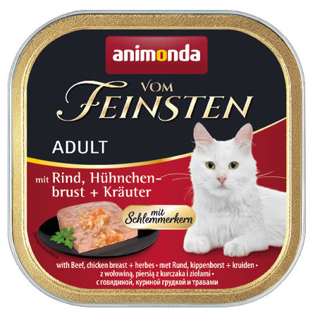Animonda vom Feinsten Schlemmerkern Rind + Hühnchenbrust + Kräuter 100g