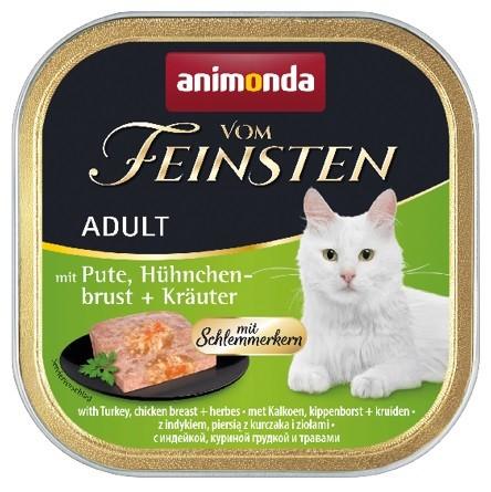 Animonda vom Feinsten Schlemmerkern mit Pute + Hühnchenbrust + Kräuter 100g