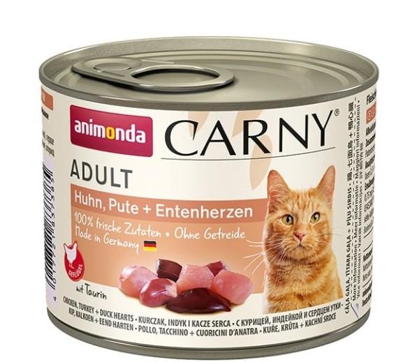 Animonda Carny Adult Huhn, Pute + Entenherzen