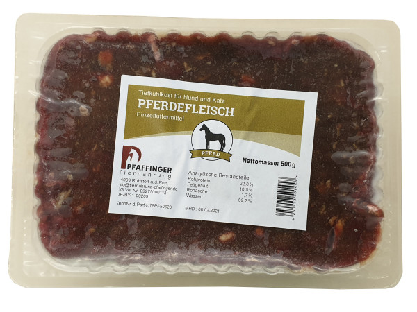 Pfaffinger Pferdefleisch 500g
