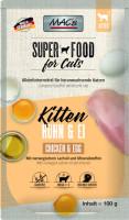 Macs Cat Super Food Kitten Pouch Huhn + Ei 100 g