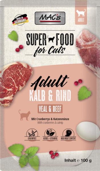 Macs Cat Pouch Kalb & Rind 100g