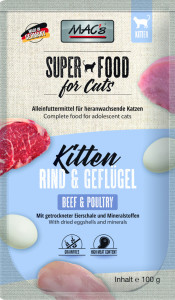 Macs Cat Super Food Kitten Pouch Rind + Geflügel 100 g