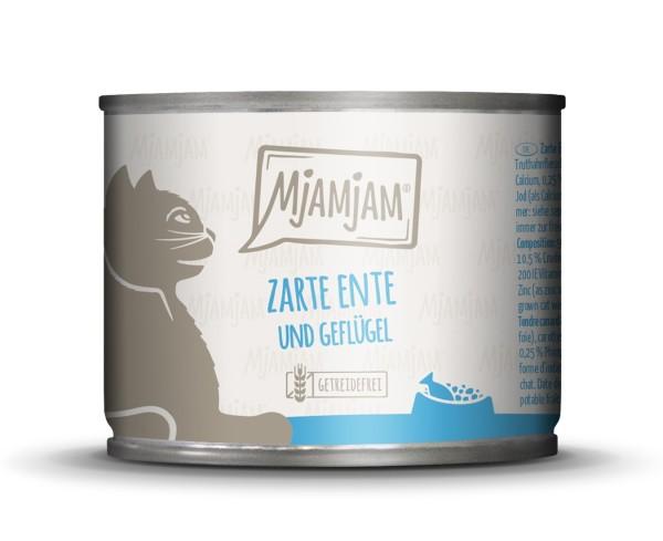 Mjamjam zarte Ente + Geflügel an Möhrchen