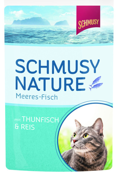 Schmusy Nature Meeres Fisch Thunfisch & Reis 100 g