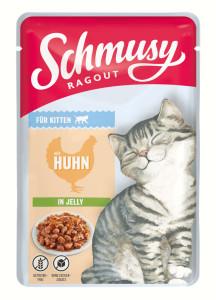Schmusy Ragout Kitten mit Huhn in Jelly 100 g