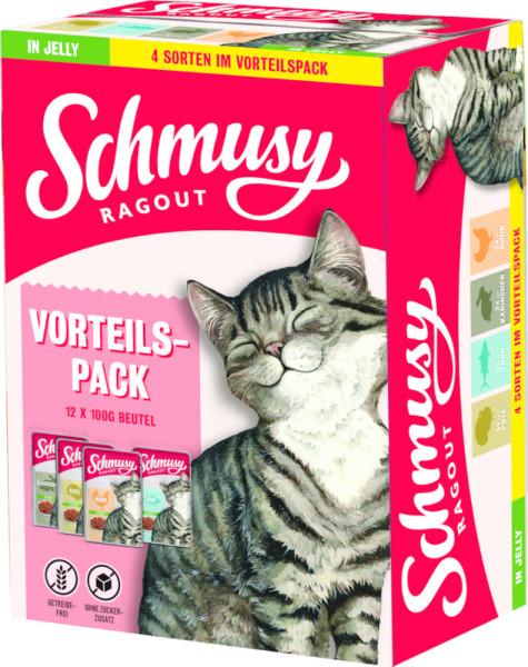 Schmusy Ragout Vorteilspack in Jelly 12 x 100g