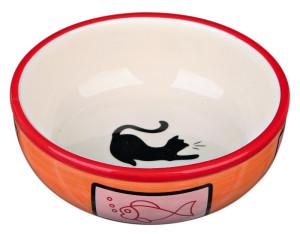 Trixie Katzen Keramiknapf bunt