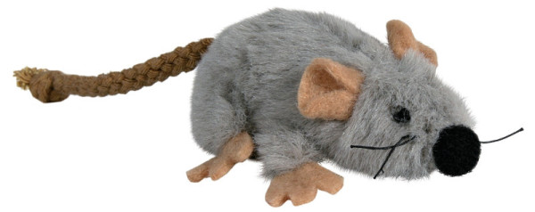 Trixie Cat Spielmaus Plüsch grau