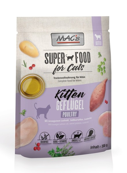 Macs Cat Superfood Kitten Geflügel