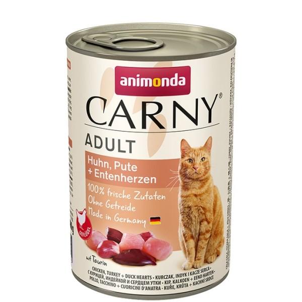 Animonda Carny Adult Huhn, Pute + Entenherzen 400 g