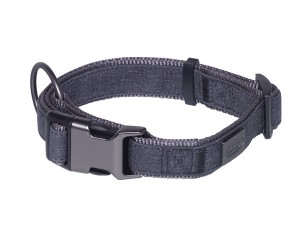 Nobby Halsband Linen Deluxe schwarz grau
