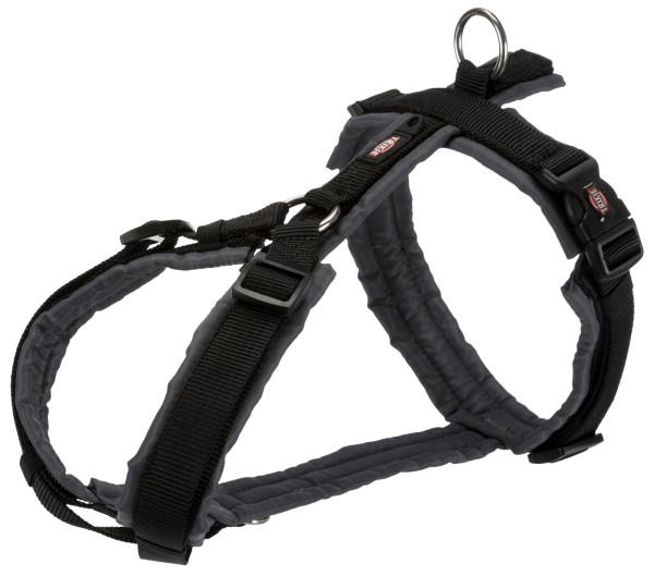 Trixie Premium Trekking Geschirr schwarz grafit M