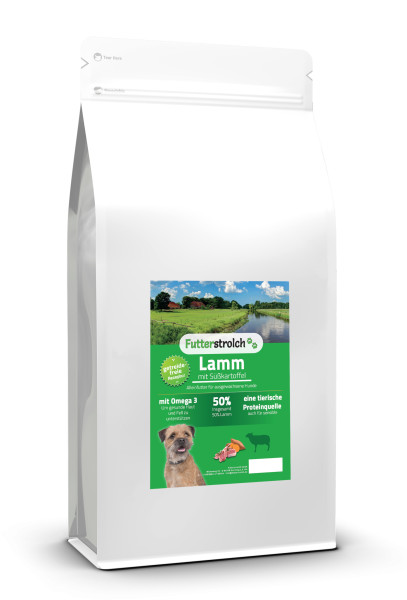 Futterstrolch Lamm, Süßkartoffel + Minze 12 kg