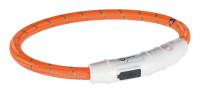 Trixie Dog Flash Leuchtring USB Orange XS - S 35 cm / 7 mm