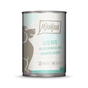 Mjamjam Dog gute Pute an Reis mit gedämpfter...