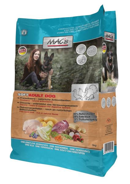 Macs soft Getreidefrei Huhn, Ente + Truthahn 5 kg