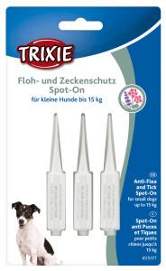 Trixie Dog Floh- und Zeckenschutz Spot on kleine Hunde 3x...