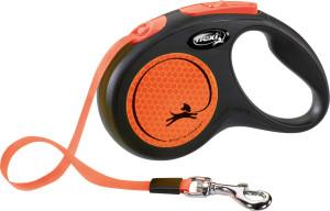 flexi New Neon Gurt 5m orange