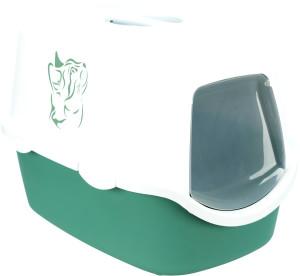 Trixie Katzentoilette Vico grün weiß mit Haube