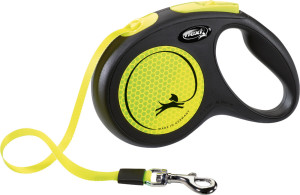 flexi New Neon Gurt 5m gelb
