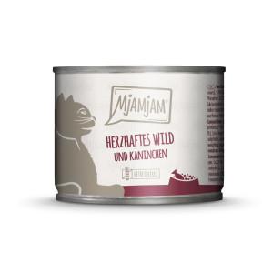 Mjamjam Herzhaftes Wild, Kaninchen + Heidelbeeren 200g