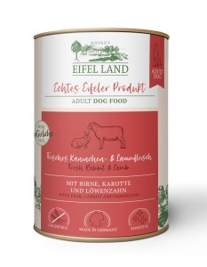 Eifel Land frisches Kaninchen + Lammfleisch